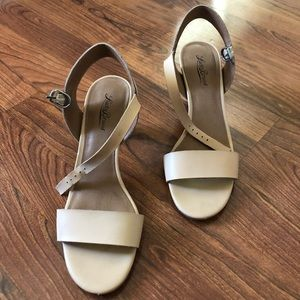 Lucky Brand Leather Strap Summer Heels